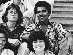 barack obama in high school