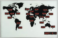 24-City World Map Clock