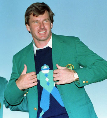 Nick Faldo 1990 Green Jacket