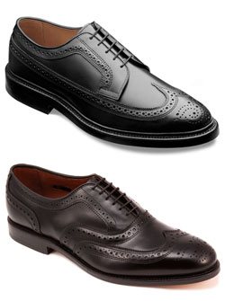 Men's Shoes Have An Inquiring Mind Allen Edmonds Classic Mcallister Wingtip Oxfords Black Leather Mens Us Size 9 D To Produce An Effect Toward Clear Vision Clothing, Shoes & Accessories