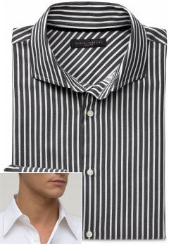 BR monogram barrel cuff textured-stripe shirt via Banana Republic, $98.00