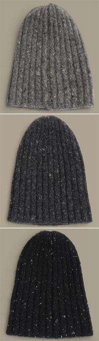Tweed Cashmere Hat via Bottega Veneta, $149.00