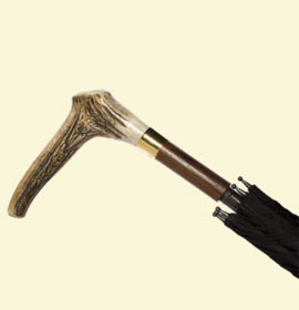 Men's Stag's Horn Handle Umbrella via www.swaineadeney.co.uk, $580.57