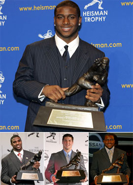 Tackled by Ugly Suit, Reggie Bush Fumbles Heisman