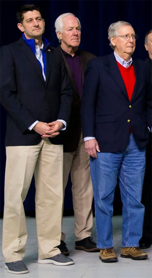 Paul Ryan And Mitch McConnell Who Looks As Uncomfortable We Are Seeing This Picture