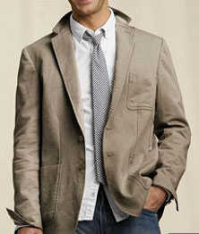 Canvas chino blazer via Lands' End, $69.50