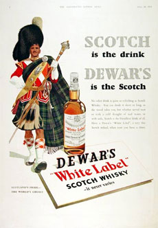 Dewar's ad from 1954