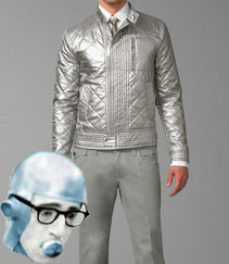 Dolce & Gabbana Quilted Metallic Blouson Jacket via Saks Fifth Avenue, $2265.00