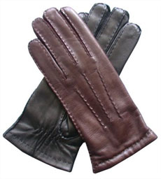 Handsewn Rabbit Fur Lined Gloves via Leather Gloves Online, $88.95