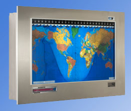 Brushed stainless steel Original Kilburg Geochron via geochron.com, $2130.00