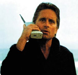 MB GG with first cell phone, the Motorola DynaTAC 8000x