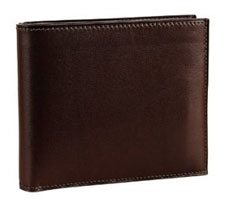 Hermes brown calfskin wallet via bluefly.com, $1012.00
