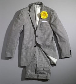 Black Glen Plaid Suit via hickey, $328.50