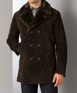 John Varvatos Star USA Suede Peacoat via Bloomingdales, $895.00