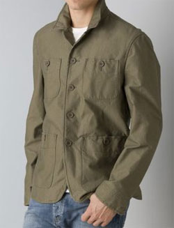 John Varvatos Star USA Men's Four Pocket Work Jacket via Bloomingdales, $296.25