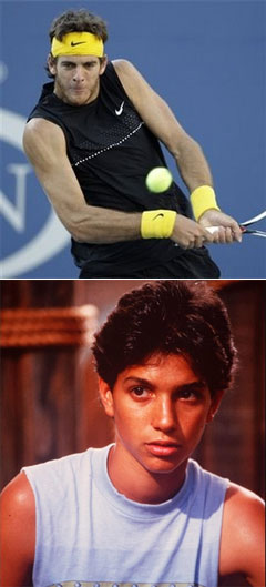 Juan Martin del Potro (top) and Ralph Macchio