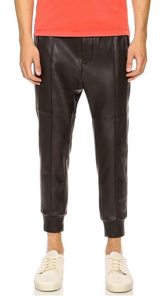 DSQUARED2 Leather Jogging Pants via East Dane, $1295.00
