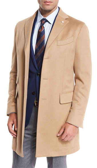 Lubiam Camel-Hair Single-Breasted Topcoat via Neiman Marcus, $1995.00