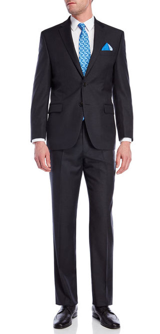 Ralph Lauren Basic Charcoal Serge Wool Suit Jacket & Pants via Century 21, $219.99