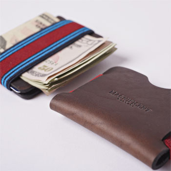 Minimum Viable Wallet in Horween Chromexcel Brown via Magnificent Bastard, $25.00