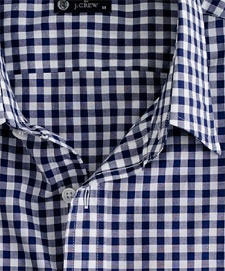 Point-collar dress shirt in medium gingham via J. Crew, $55.00
