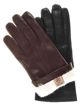 Men's Italian Rabbit Fur Gloves By Fratelli Orsini via Leather Gloves Online, $85.95