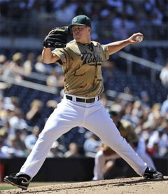 San Diego Padres pitcher Clayton Richard