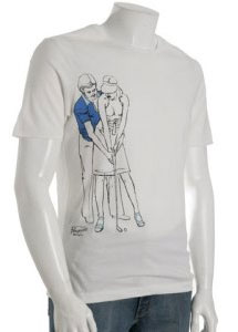 Original Penguin white cotton 'Golfing' t-shirt  via bluefly, $21.00