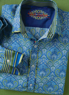 Robert Graham 'Mulin' Sportshirt via Mark Shale, $228.00