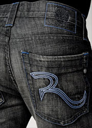 Rock & Republic Floyd in Iron Blue via Rock & Republic, $242.00