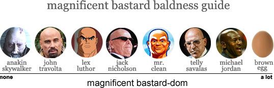 magnificent bastard baldness guide