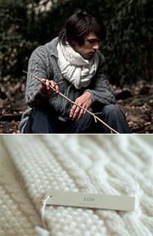 SOH Cable Hand-Knit Scarf via Pamela Robbins, $380.00