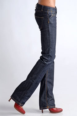 Stephenson Johnston Creek resin bootcut jeans via Tobi, $190.00