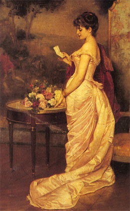 The Love Letter, by Auguste Toulmouche