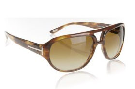 Tom Ford Tortoise Aviator Sunglasses via Bluefly, $198.00