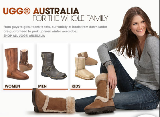 Worst Advice Ever: Bloomingdale's Recommends Ugg for the Whole Family