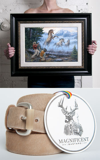 Unicorn Belt via Magnificent Bastard, $150.00