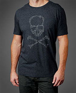 John Varvatos Skull and Crossbones Tee via johnvarvatos.com, $68.00